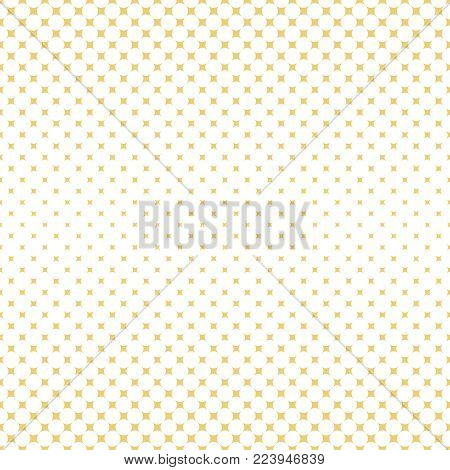 Vector seamless pattern. Abstract halftone background. Modern stylish gold texture. Repeating grid with rhombuses of the different size. Gradation from bigger to smaller.