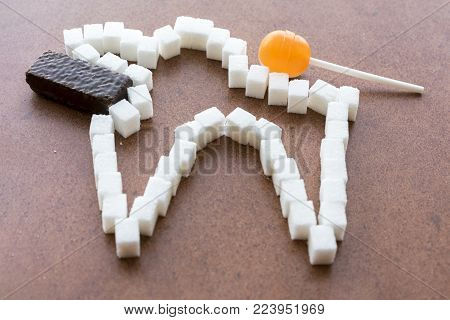 The concept of how sweets spoil the tooth