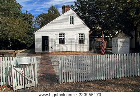 Williamsburg, Va - October 6: The Reconstructed James Geddy Foundry Provides Visitors With A Glimpse