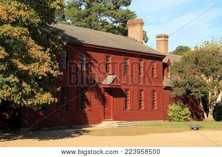 WILLIAMSBURG, VA - OCTOBER 6: The Peyton Randolph Home is one of the oldest and most historic of Colonial Williamsburg's original eighteenth century homes October 6, 2017 in Williamsburg, VA
