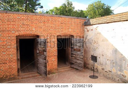 Williamsburg, Va - October 6: Built In The Early Eighteenth Century, The Public Gaol Served As The M