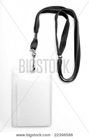 badge ID isolated on white