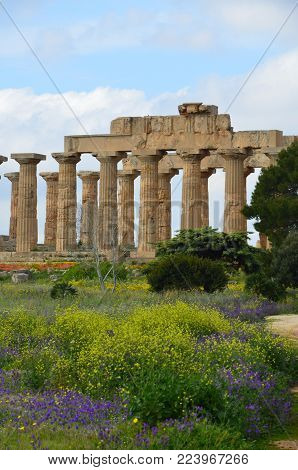The beautiful Selinunte archaeological site, Sicily, Italy