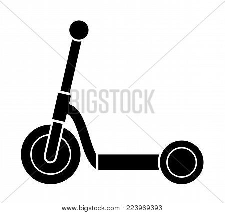 vector kids scooter isolated on white background