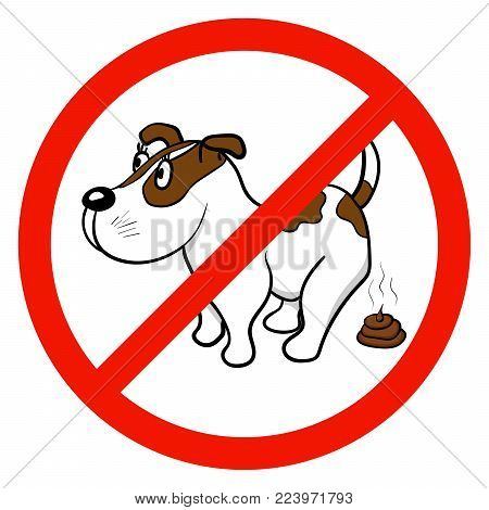 A sign that forbids walking with dogs. Vector illustration