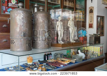 Bangkok, Thailand - Jan 14, 2018: Old Vintage Traditional Medicine With Asian Herb, Chinese Herb, Ac