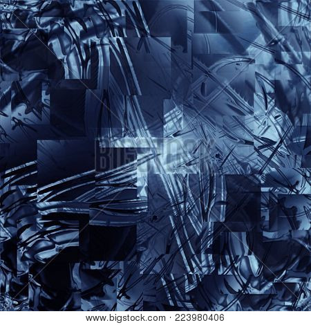 squares of the frosty glass, abstract background