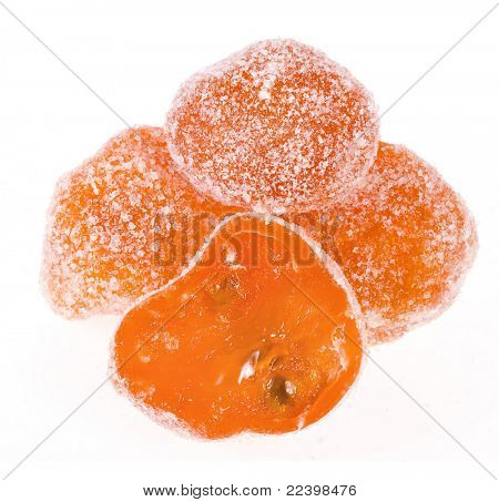 dried kumquat isolated on white background