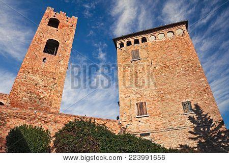 Longiano, Forli-Cesena, Emilia-Romagna, Italy: the medieval Malatesta castle of the ancient village on the hill