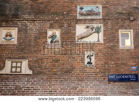 Amsterdam, Netherlands - April 20, 2017: The Amsterdam Museum, , is a museum about the history of Amsterdam,  is located in the old city orphanage between Kalverstraat and Nieuwezijds Voorburgwal.