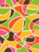 Organic Curves Pattern Orange Pink (vector) - illustration poster