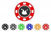 Joker Casino Chip icon. Vector illustration style is a flat iconic joker casino chip symbol with gray, yellow, green, blue, red, black color variants. Designed for web and software interfaces. poster