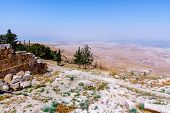 """View of the """" promised land"""" from Mount Nebo, Jordan. poster"""