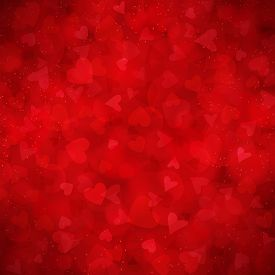 Red vector background for Valentines day. You can use for greeting cards, posters and design projects.