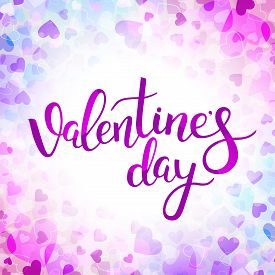 Vector background with hearts for Valentines day. You can use for greeting cards, posters and design projects.