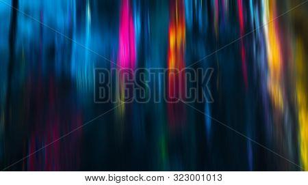 Illumination And Neon Night Lights Of Nyc