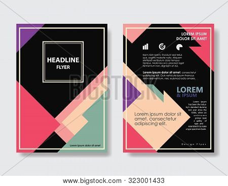 Flayer Design Vintage Abstract Triangle Shape Layout  Poster Brochure Vector Template