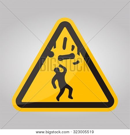 Beware Falling Objects Symbol Isolate On White Background,vector Illustration Eps.10