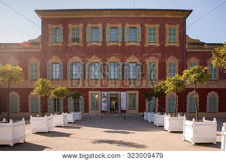 Nice, France - November 3, 2016: Matisse Museum (musee Matisse De Nice) Devoted To Work Of French Pa