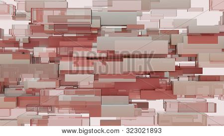 Abstract Background Of Cubes. 3d Illustration. Pattern For Your Design