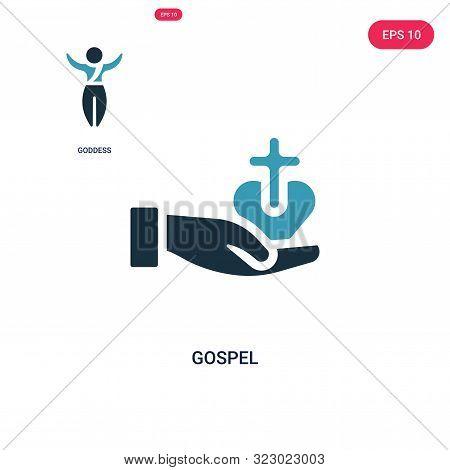 gospel icon in two color design style.