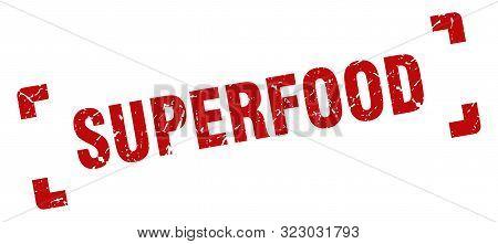 Superfood Stamp. Superfood Square Grunge Sign. Superfood