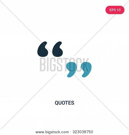 quotes icon two color vector photo trial bigstock