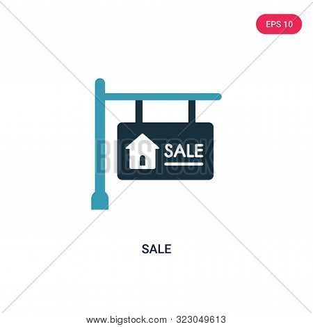sale icon in two color design style.