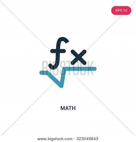 math icon in two color design style.