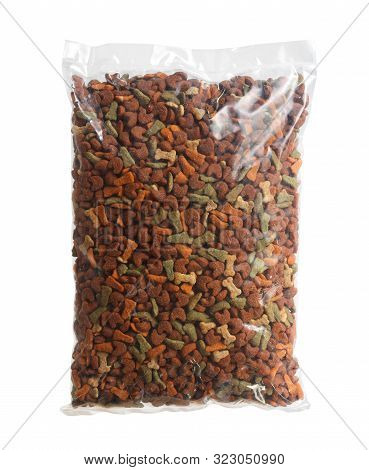 Bag Of Pet Food (with Clipping Path) Isolated On White Background