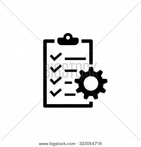 Project Management Icon. To Do List Symbol