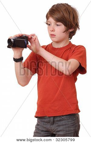 Boy With Camcorder