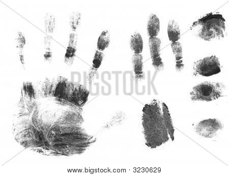 Black Silhouettes  Prints Of Fingers