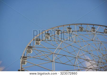 Anapa, Russia, September 5, 2019. Ferris Wheel In Anapa