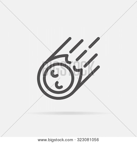 Meteorite Icon In Line Style.