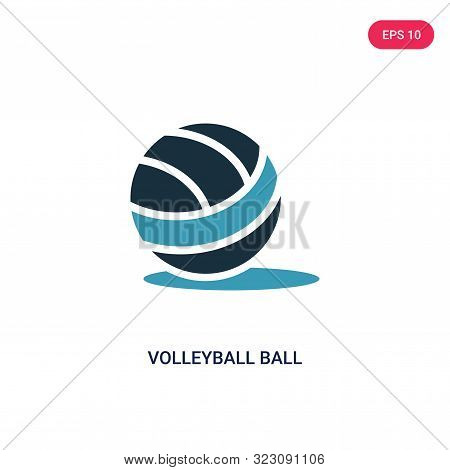 Volleyball Ball Icon In Two Color Design Style. Volleyball Ball Vector Icon Modern And Trendy Flat S