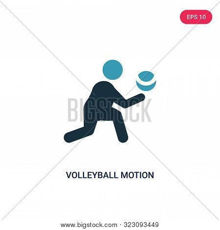 Volleyball Motion Icon In Two Color Design Style. Volleyball Motion Vector Icon Modern And Trendy Fl