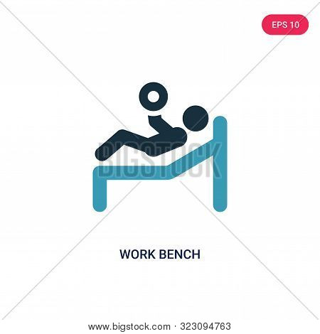 Work Bench Icon In Two Color Design Style. Work Bench Vector Icon Modern And Trendy Flat Symbol For