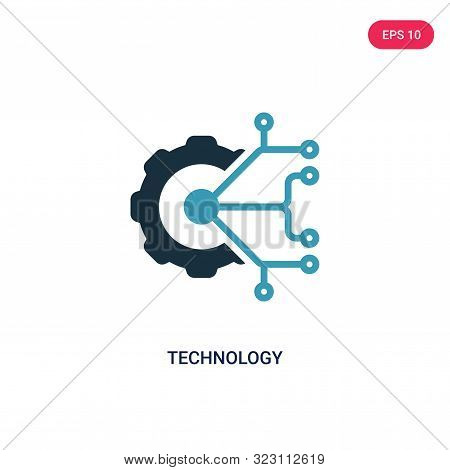 technology icon in two color design style.