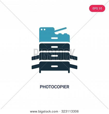 photocopier icon in two color design style.