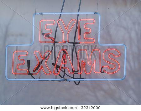Eye Exams In Neon