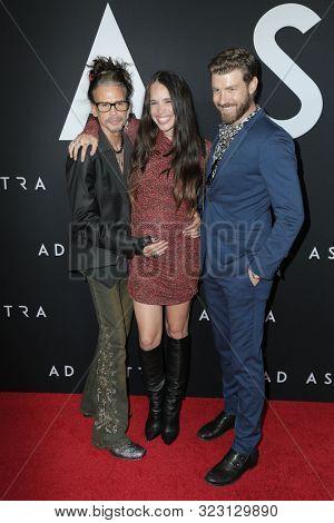 LOS ANGELES - SEP 18:  Steven Tyler, Chelsea Tyler, Jon Foster at the