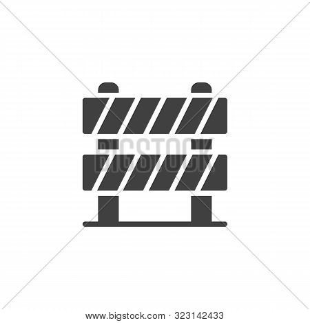 Road Barrier Vector Icon. Filled Flat Sign For Mobile Concept And Web Design. Traffic Barrier Glyph
