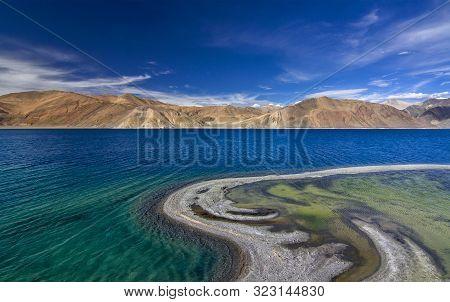 Pangong Tso Or Pangong, An Endorheic Lake At Ladakh, India