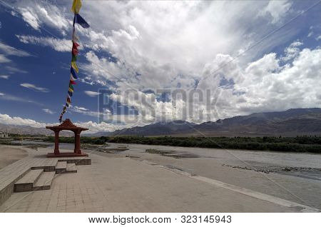 Sindhu Ghat, Is A River Bank Near Shey Monastery In Leh, Jammu And Kashmir, India.