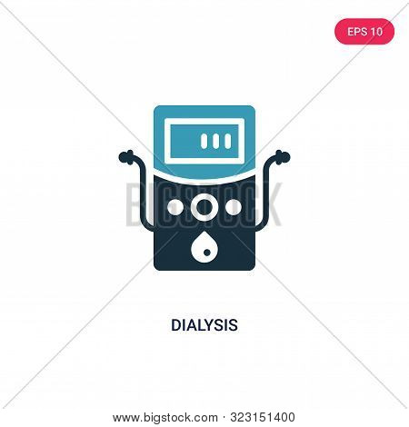 dialysis icon in two color design style.