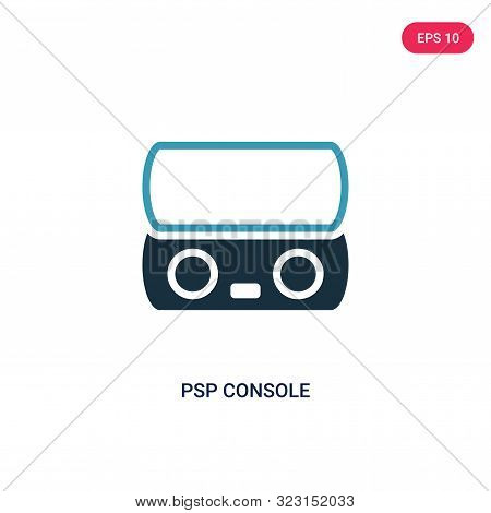 psp console icon in two color design style.