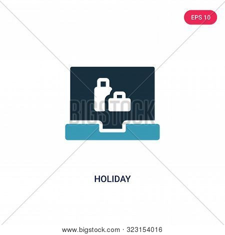 Holiday Icon In Two Color Design Style. Holiday Vector Icon Modern And Trendy Flat Symbol For Web Si