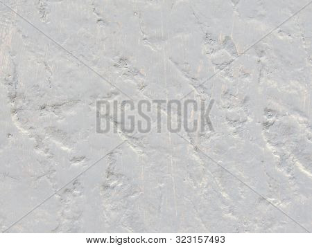 Light Beige Stone Gorizontal Wall Background Or Web Banner. Distressed Old Wall Vintage Color.