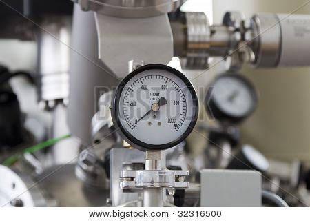 Manometer close up
